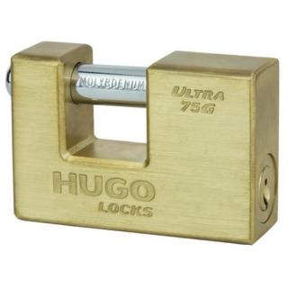 ΕΝΙΣΧΥΜΕΝΟ ΛΟΥΚΕΤΟ ΤΑΚΟΥ ΟΡΕΙΧΑΛΚΙΝΟ 75mm HUGO LOCKS ULTRA G 60147